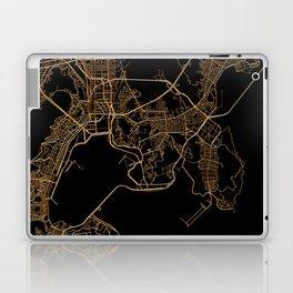Black and gold Busan map Laptop & iPad Skin