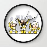 beastie boys Wall Clocks featuring Beastie boys tribute by rodouyeha
