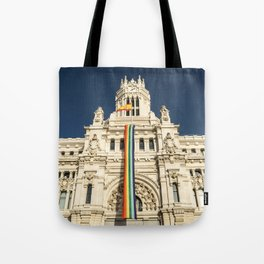 Building With LGBT Pride Flag Tote Bag