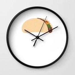 MAKE TACOS NOT WALL Wall Clock