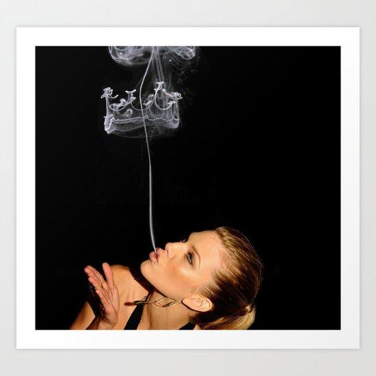 smoke crown Art Print