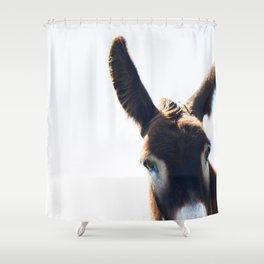 Two Ears One Mouth Shower Curtain