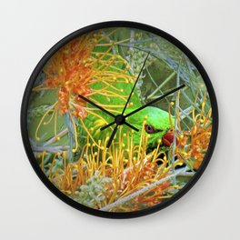 Australian Scaly Breasted Lorikeet Wall Clock