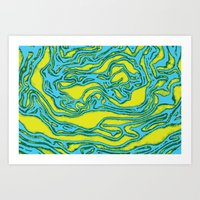 lime green Art Prints featuring Lime by Mario Metzler