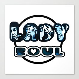 Lady Soul - Blue Canvas Print