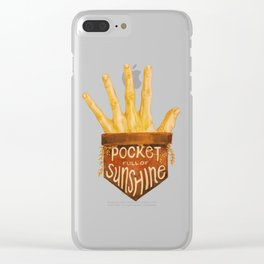 Pocket Full of Sunshine Clear iPhone Case