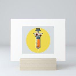 injection cartoon Mini Art Print