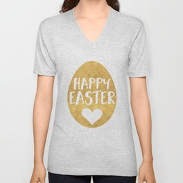 GOLDEN EGG - HAPPY EASTER Unisex V-Neck
