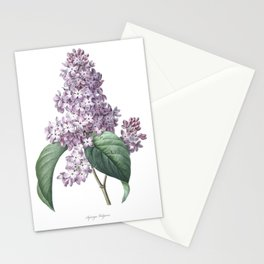 Nature, botanical print, flower poster art of Lilac Stationery Cards