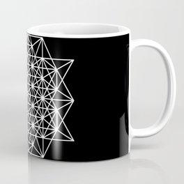 White star tetrahedron Coffee Mug