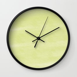 Chalky background - yellow Wall Clock