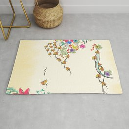 Vibrant Floral to Floral Rug