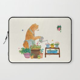 Mr. Bear, the Gardener Laptop Sleeve