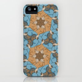 Reclining Dudes Tessellation iPhone Case