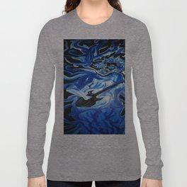 Jerry Garcia Blues Acrylic Painting Grateful Dead Long Sleeve T-shirt