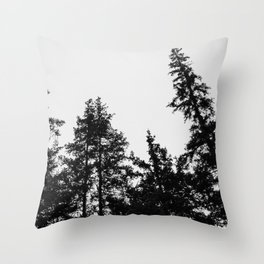 pine tree silos Throw Pillow