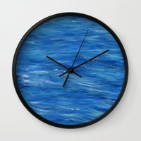 west coast Wall Clocks featuring West Coast by Hangin Fin