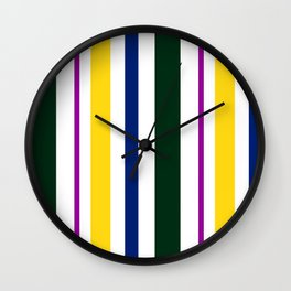 Stripes in colour 1 Wall Clock