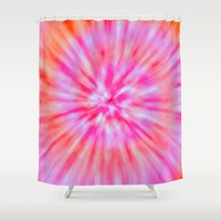 tie dye Shower Curtains featuring TIE DYE by Nika
