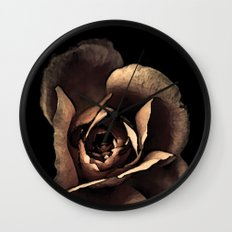 Rose noire colors fashion Jacob's Paris Wall Clock