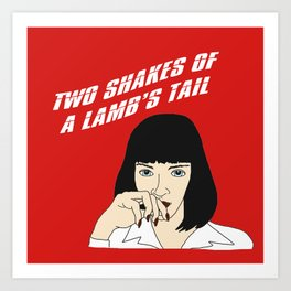 Mia Wallace Powders Her Nose Art Print