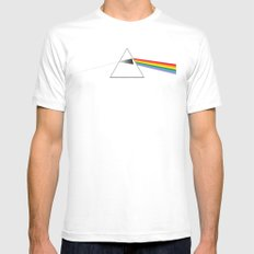 The Dark Side of the Moon White LARGE Mens Fitted Tee