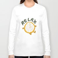 relax Long Sleeve T-shirts featuring Relax by Vaughn Fender