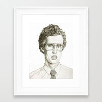 napoleon dynamite Framed Art Prints featuring Napoleon Dynamite Multi-Pattern Portrait by M. W.