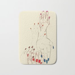 Nail Polish Bath Mat