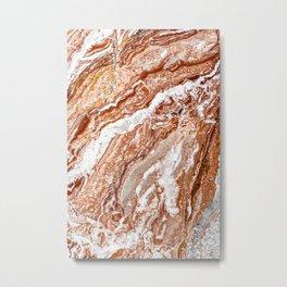 Brown Marble, Tiramisu Marble, Modern Marble Print, Luxury Geometric Art, Minimal Scandinavian Abstract Pattern Metal Print