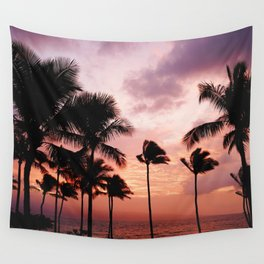 Palm Tree Sunset Wall Tapestry
