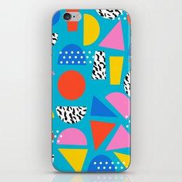 Airhead - memphis retro throwback minimal geometric colorful pattern 80s style 1980's iPhone Skin