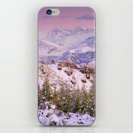 Sierra  nevada mountains at pink sunset iPhone Skin