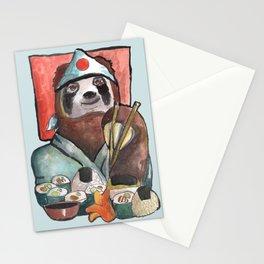 sloth eating sushi Stationery Cards