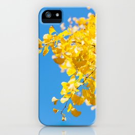Sky and Leaf iPhone Case