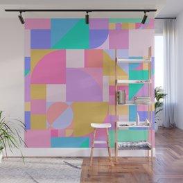 Colourful Bauhaus Wall Mural