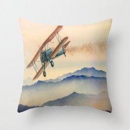 aircraft double decker oldtimer Throw Pillow