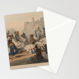 Leblanc Theodore  Danse de Pallikares devant Athenes Stationery Cards