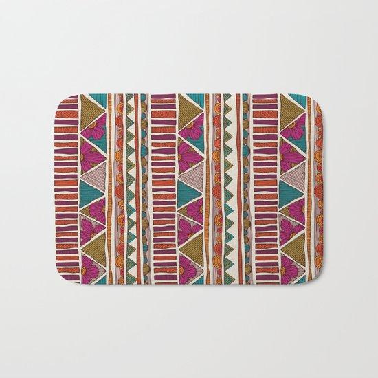 Tribal stripes Bath Mat