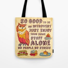 Happy introvert Tote Bag