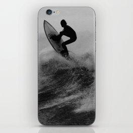 Surf black white iPhone Skin