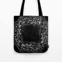 Abstract floral frame Tote Bag