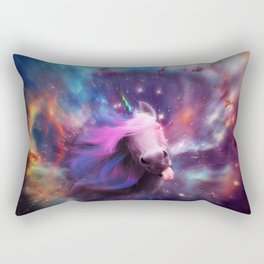 Unicorns belong in space Rectangular Pillow