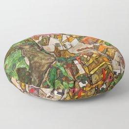 Egon Schiele - Landscape at Krumau 1916 Floor Pillow