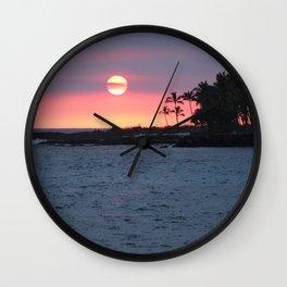 Kona Sunset Wall Clock