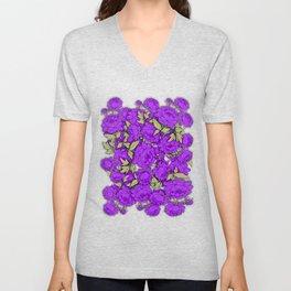 Purple Peonies Unisex V-Neck