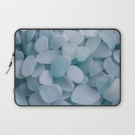 Aqua Sea Glass - Up Close & Personal Laptop Sleeve