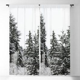 Winter Wanderlust Woods VII - Snow Capped Forest Nature Photography Blackout Curtain