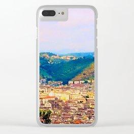 Italian Cityscape Clear iPhone Case