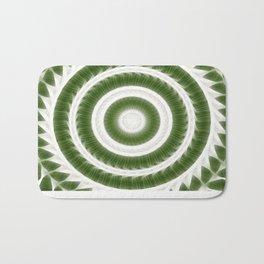 Green White Kaleidoscope Art 8 Bath Mat
